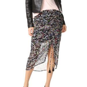 Rebecca minkoff Multi Color Romy Floral skirt